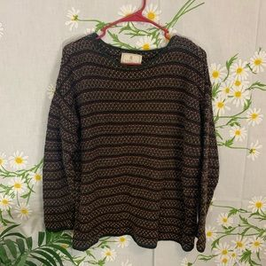 Vintage express striped textured sweater